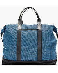 Orlebar Brown - Blue Leather-Trimmed Taylor Tote Bag - Lyst