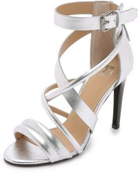 Joe's Jeans - Robbie Strappy Sandals - Silver - Lyst