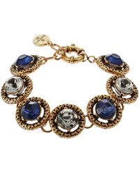 R.j. Graziano Rhinestone Linked Bracelet - Lyst