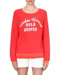 Wildfox Hula Hooper Sweat Top - Lyst