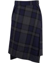 Vivienne Westwood Red Label Case Check Side Split Skirt - Lyst