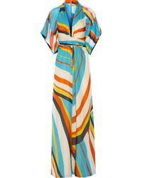 Issa Silk-Chiffon Maxi Dress - Lyst