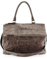 Givenchy Pandora Large Leather Satchel Bag - Lyst