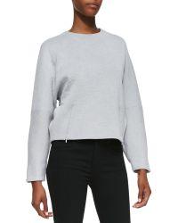 Victoria Beckham Kimono Sweater with Zipper Detail - Lyst
