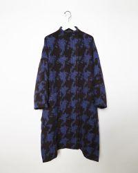 Acne Studios Alden Jacquard Coat blue - Lyst