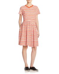 Marc By Marc Jacobs Sketch-Stripe Dress multicolor - Lyst
