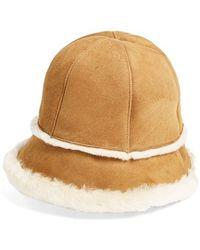 UGG - Ugg Australia 'city' Genuine Shearling Bucket Hat - Lyst