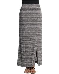 Nic + Zoe Mixedup Maxi Skirt gray - Lyst