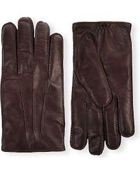 Brioni - Stitch-detail Leather Gloves - Lyst