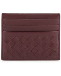 Bottega Veneta Woven Leather Credit Card Sleeve - Lyst