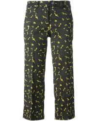 Milano Parigi - Cropped Flared Trousers - Lyst