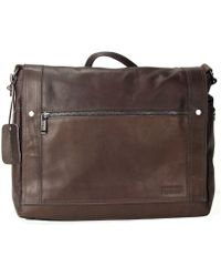 Kenneth Cole Reaction Colombian Leather Messenger Bag - Lyst