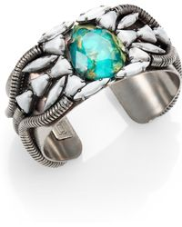 Dannijo Aviva Crystal Cluster Cuff Bracelet - Lyst