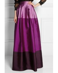 Temperley London Long Freesia Satintwill Maxi Skirt - Lyst