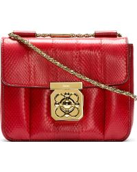 Chloé Red Snakeskin Elsie Small Shoulder Bag - Lyst