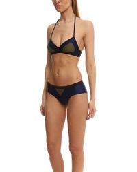 VPL   Deltoid Navy Bikini Top   Lyst