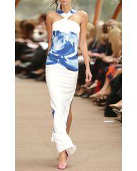 Carla Zampatti | Blue Bouquet Dress | Lyst