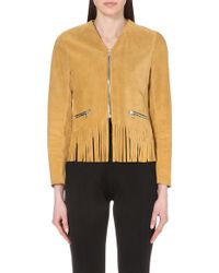 Sandro Vamia Suede Jacket - For Women - Lyst