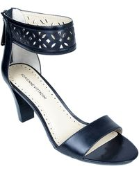 Adrienne Vittadini Sereen Leather Sandals - Lyst