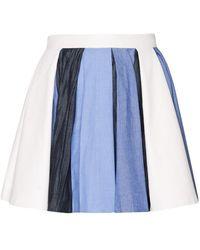 Pixie Market Anna Denim Pleated Skirt - Lyst