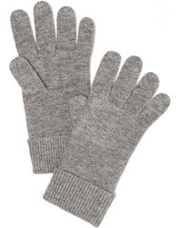 Rag & Bone Gray Adrienne Gloves - Lyst