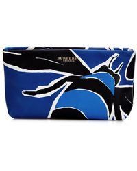Burberry Prorsum - Book Cover-Print Leather Pouch - Lyst
