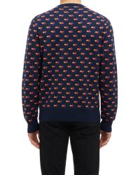 Jack Spade - Abstract Geo-Print Pullover Sweater-Blue Size Xxl - Lyst