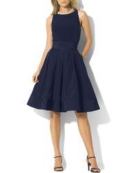 Ralph Lauren Lauren Dress - Jersey & Taffeta - Lyst