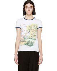 Loewe White Graphic T_Shirt - Lyst
