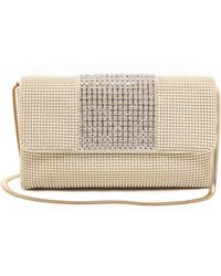 Whiting & Davis Crystal Panel Clutch  Pearl - Lyst