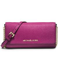 Michael Kors Michael Jet Set Travel Wallet On A Chain - Lyst