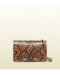 Gucci Lady Bamboo Python Shoulder Bag - Lyst