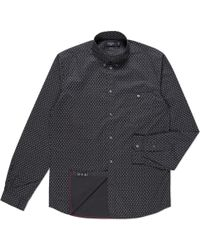 Paul Smith Tailored-Fit Black Paisley Print Shirt - Lyst