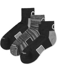 Calvin Klein Men'S Coolpass Quarter Socks 3-Pack - Lyst