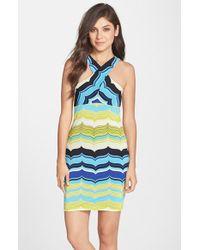 Trina Turk Trina 'Rochelle' Stripe Jersey Body-Con Dress - Lyst