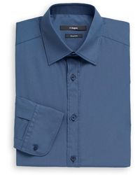 Z Zegna Stretch Cotton Dress Shirt - Lyst