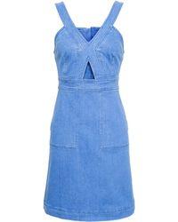 Stella McCartney A-Line Denim Dress - Lyst
