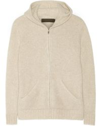 The Elder Statesman Plated Cashmere Hooded Top - Lyst