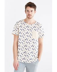 BDG - Ditsy Floral Standard-fit Wide Neck Tee - Lyst