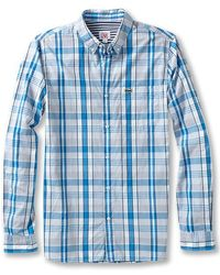 Lacoste Lve Long Sleeve Plaid Woven - Lyst