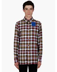 Raf Simons Sterling Ruby Checked Cotton Shirt - Lyst
