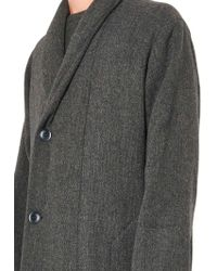 Christophe Lemaire - Oversized Shawl-collar Wool Coat - Lyst