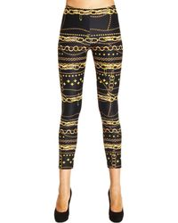 Versus  Trouser Leggings Belt Print - Lyst