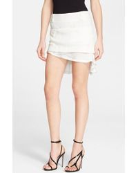 Haider Ackermann Asymmetric Crepe Mini Skirt white - Lyst