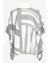 Ted Baker - Monochrome Checked Roll Neck Jumper - Lyst