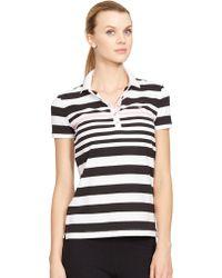 Lauren by Ralph Lauren Striped Polo Shirt - Lyst