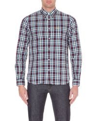 Fred Perry Checked Cotton Shirt - For Men - Lyst