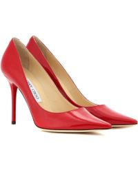 Jimmy Choo Abel Patentleather Pumps - Lyst