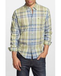 Lacoste Regular Fit Plaid Poplin Woven Shirt green - Lyst