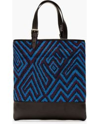 Marc Jacobs Blue and Oxblood Crocheted Tote - Lyst